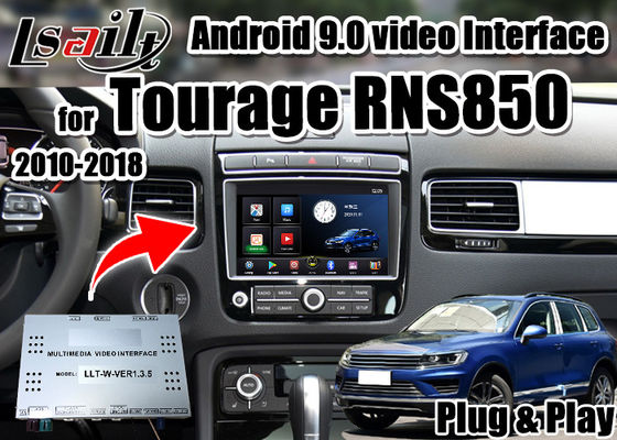Interface visuelle de multimédia de Lsailt CarPlay& Android pour l'appui YouTube, jeu de Tourage RNS850 2010-2018 de Google