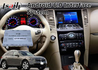 Interface visuelle d'automobile d'Android 6,0 pendant 2008-2012 l'année Infiniti FX37/FX50 Mirrorlink